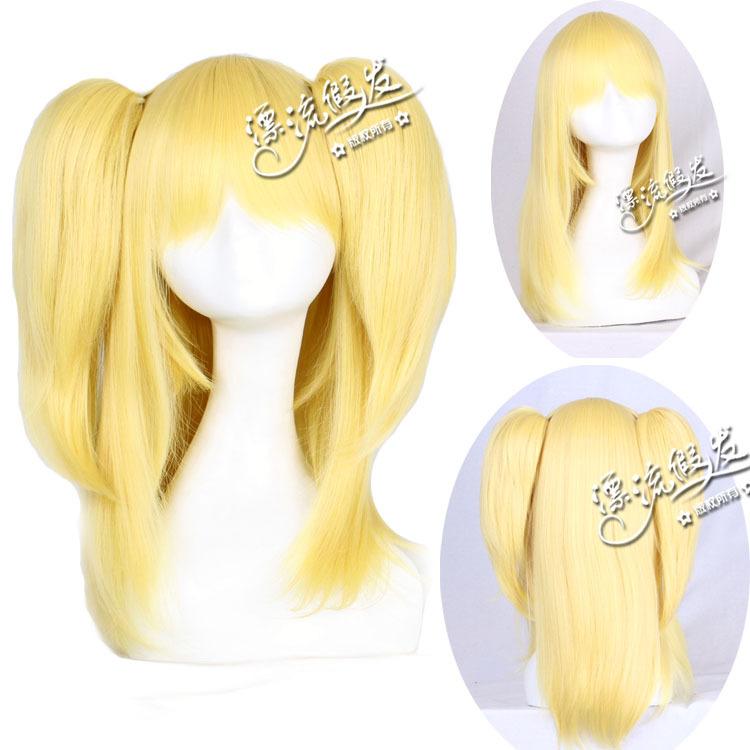 Гаджет  Drifting wig golden 60 cm double horsetail my few friends Feather wrasse chuan little dove  None Изготовление под заказ