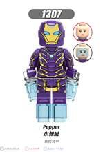 Thanos Endgame Vingadores Marvel Super Heroes Homem De Ferro Máquina de Guerra homem aranha Capitão América Thor Hulk Building Blocks toy X0263(China)