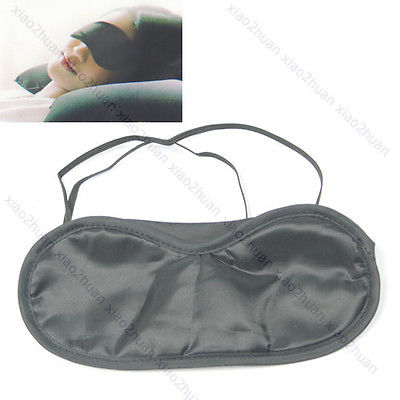 5 Pcs Black Travel Sleep Rest Eye Shade Sleeping Mask Cover Blinder