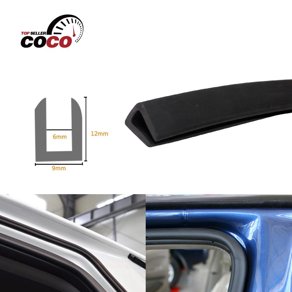 "12x9mm U pillar Channel 590""1500cm Black Car Truck Door Opening Rubber Protector Trim EPDM Seal Strip Waterproof dustproof #63(China (Mainland))"