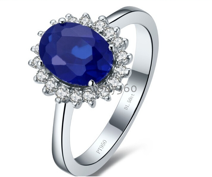 2 carat 4 prongs 925 sterling silver ring Synthetic sapphire ring SONA diamond engagement ring US size from 4 to 10.5(China (Mainland))