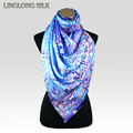 100 Silk Twill Long Scarf 65cmX175cm Pure Silk Fabric New Desigual Autumn Winter Women Scarf Shawls