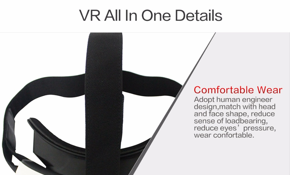 All In One V12 VR Virtual Reality 3D Glasses Android 4.4 Allwinner H8 CPU IPS Screen 2G/16G Support TF Card Bluetooth Wifi