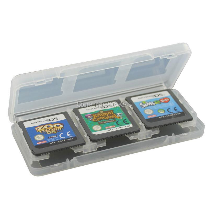 assecure white 6 game card case holder for nintendo 3ds ds ds lite dsi dsi xl storage box 6. Black Bedroom Furniture Sets. Home Design Ideas