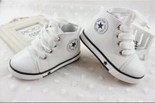 New spring fashion brands baby Canvas sneakers baby boys fashion high-top Canvas shoes baby girls 6 color sports shoes(China (Mainland))