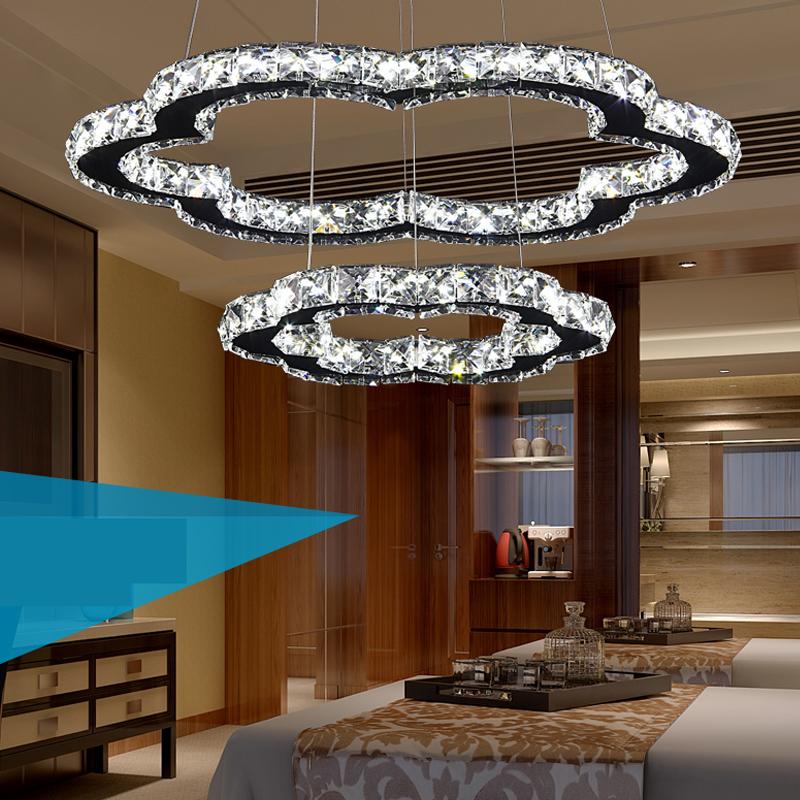 Led Modern Crystal Pendant Lights Retro Luxury Dining Room