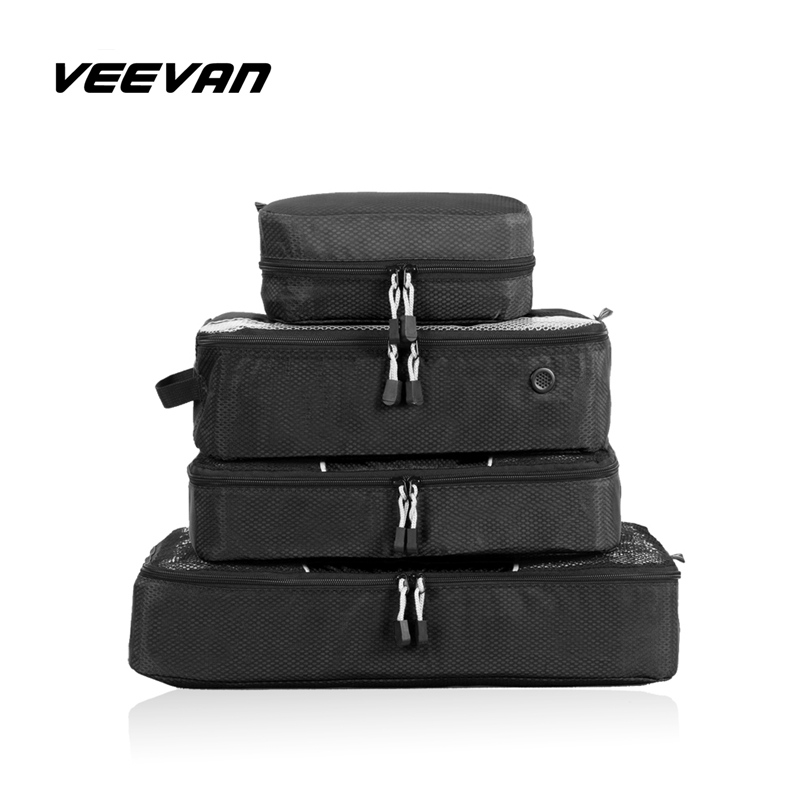 4Pcs/Set Unisex Nylon Packing Cubes for Clothes Waterproof Duffle Bag Organizers Lightweight Luggage Travel Bags Women Hand Bag(China (Mainland))
