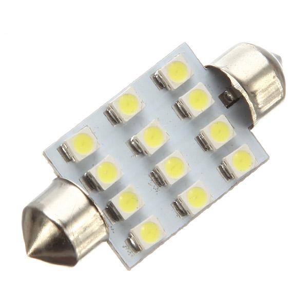 Hot Sale Big Promation High Quality 39mm 12 SMD 5050 LED Light Car Festoon Interior Reading Dome light Bulbs(China (Mainland))