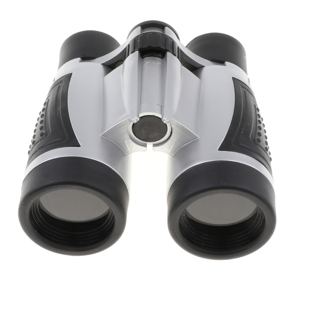 6x30 Plastic Silver Black Binoculars Telescope Kids Outdoor Educational Toy for Concert Match and Scenery