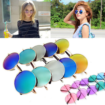 Free Shipping! 2015 New Fashion  Women Lady Nifty Summer Shade Round  Style Glasses Multicolored UV400 Sunglasses 120-0038