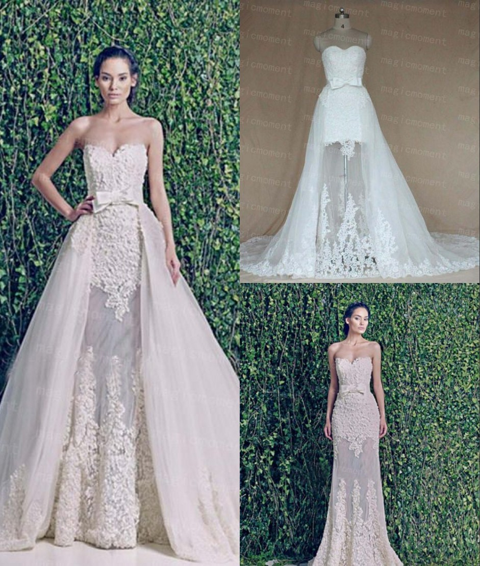 dramatic detachable train wedding dress designs for brides detachable wedding dress train Detachable Train Wedding Dresses