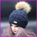 2017 New Fashion Winter Wool Beanies Female Fur Pompom Hat With Liner 100 Real Raccoon Fur