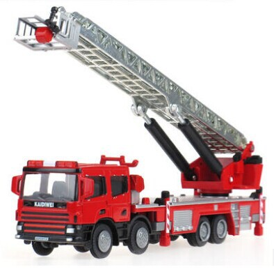 Hot Sale Alloy Engineering Car Model High Quality Ladder Fire Truck Model Popular Children Truck Toys Decoration Free Shipping(China (Mainland))