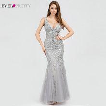 בורגונדי ערב שמלות אי פעם די EP07886 V-צוואר בת ים נצנצים פורמליות שמלות אלגנטיות נשים שמלות לנגה Jurk 2019(China)