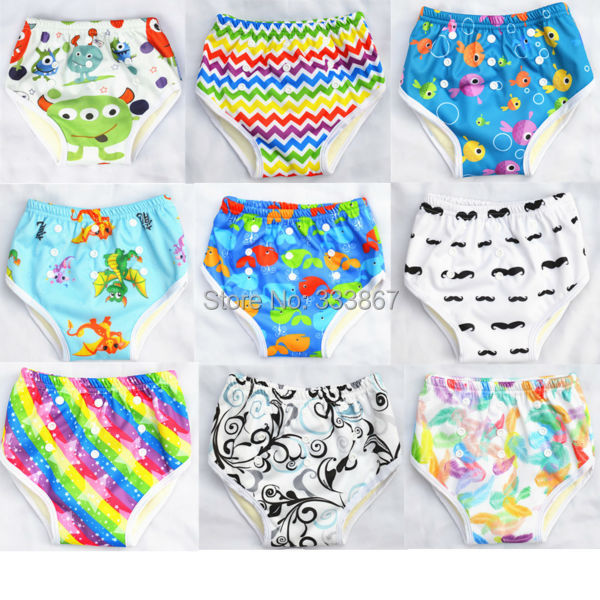 1 U PICK New Design Bamboo Resuable Waterproof Snaps Baby Potty Training Pants Underwear for Toddler 18 months to 3 years old(China (Mainland))
