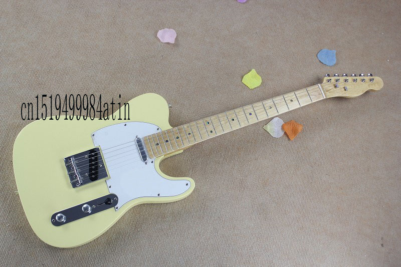 Free shipping HOT ! tele guitar High Quality milk yellow tele guitar Ameican standard telecaster electric Guitar in stock @4(China (Mainland))