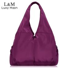 Women Handbag Casual Large Shoulder Bag Nylon Tote Famous Brand Purple Handbags Mummy Diaper Bags Waterproof bolsas Black XA287H(China (Mainland))