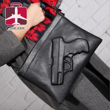 Women messenger bags 2016 gun bag famous brand crossbody bags dollar price clutch bag designer handbags high quality(China (Mainland))