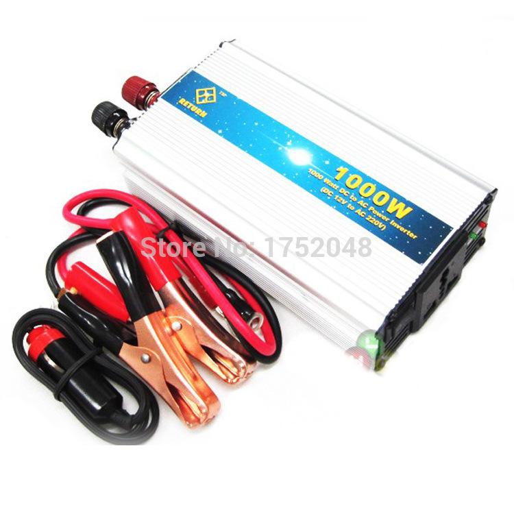 12V/24V turn 220V car inverter transformer 1000W household power converters for automobiles(China (Mainland))