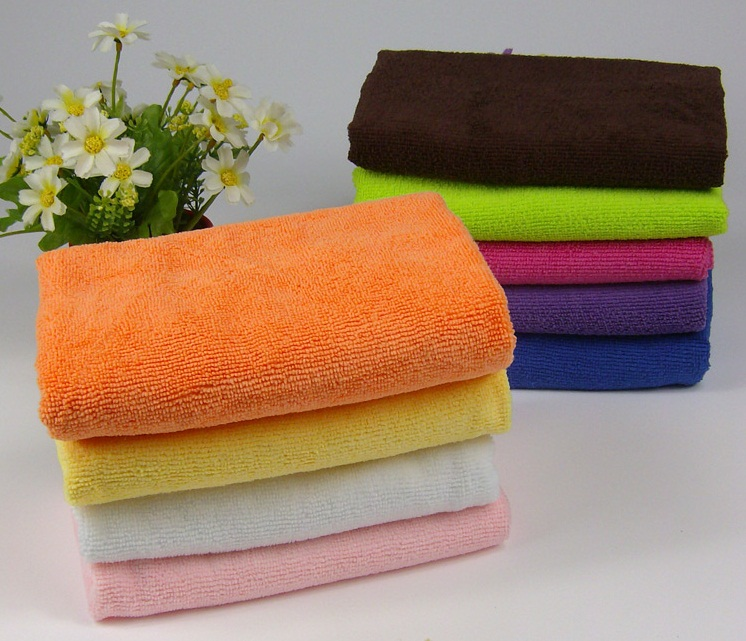 9 colors 25*25 cm Microfiber bath towel bath accessories A34