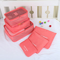 6 Pcs Travel Bag Waterproof Travel Storage Bag Set For Clothes Tidy Organizer Case Suitcase High