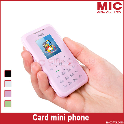 Bar new arrival unlocked small cartoon women kids girls lady cute mini ultrathin card cell mobile phone M6 P170(China (Mainland))