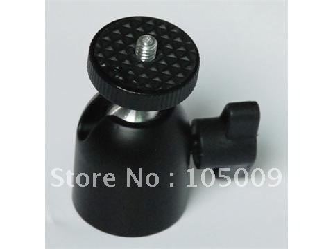 1/4'' Hot Shoe Mount Stand adapter Mini All-Metal Ball Head for Monopod Tripod Light Stand