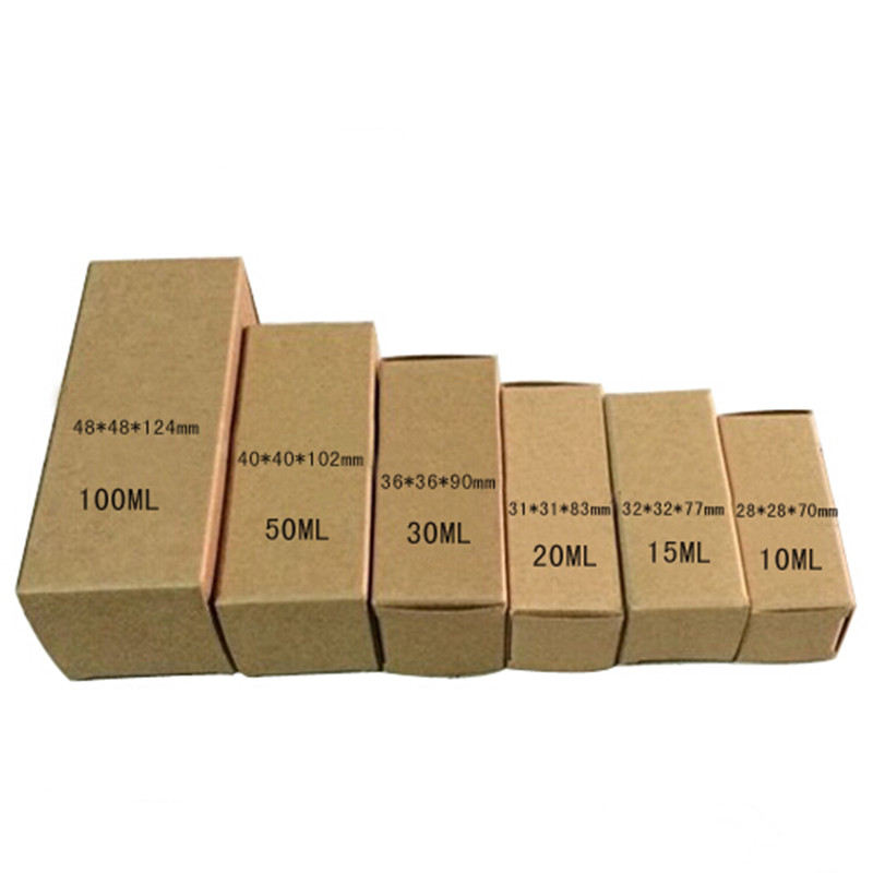 3.2*3.2*7.7cm Essential Oil Lipstick Bottle Packing Boxes Small Brown Kraft Paper Perfume Cosmetic Nail Polish Packaging Box(China (Mainland))