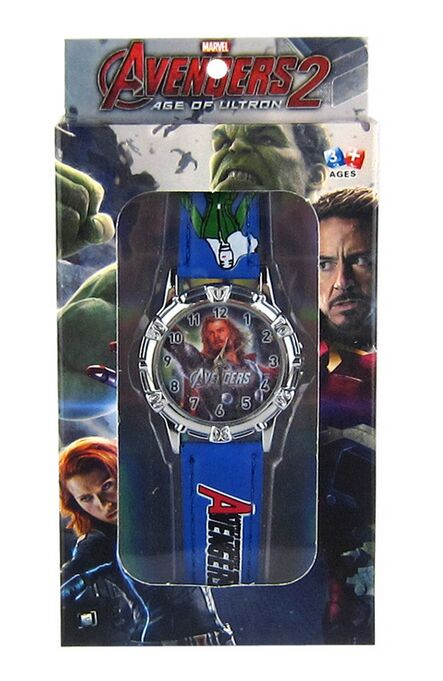 50pcs shipping dhl Avengers watches  kids 3D Cartoon Watch with box boy girls Party gift <br><br>Aliexpress