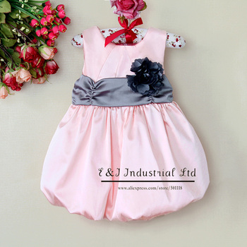 2013 New baby Girl Dress Baby Christmas Dress Fashion Ball Dress With Belt Baby Clothing Size: 1/2/3/4/5/6#(For About 3M~4T)