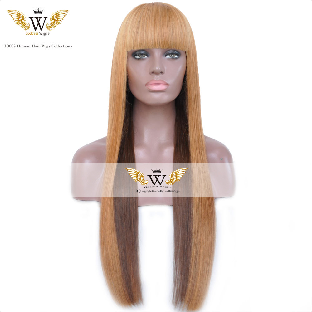 Ombre Human Hair Half Wigs 56