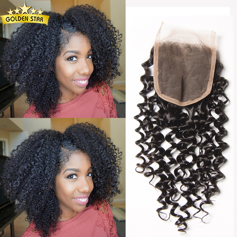 Vip Beauty Malaysian Curly Closure Top 7a Malaysian Virgin Hair Afro Kinky Lace Closure Human Hair Closure Piece Wet And Wavy