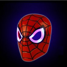 Máscara de Fontes Do Partido de Halloween Glowing LED Brinquedos Vingadores hero Cosplay Capitão América Homem De Ferro Hulk Batman Super hero Spiderman(China)