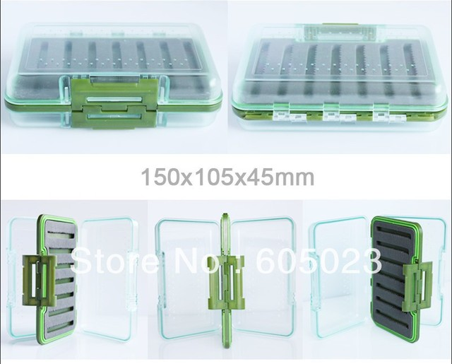 wholesale  30pcs/lot  high-quality Exclusive New hard prastic  Waterproof  fly box DIN  free shipping