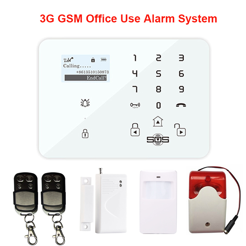 Wireless GSM Alarm System For SMS Home Security Voice Burglar Touch Keypad With PIR/Door Sensor Remote Control K9A(China (Mainland))