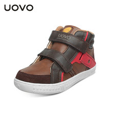 UOVO אביב ובסתיו ילדי נעליים יומיומיות בני סניקרס אמצע לחתוך אופנה ילדי בית ספר נעלי ילדים הנעלה גודל #27 -37(China)