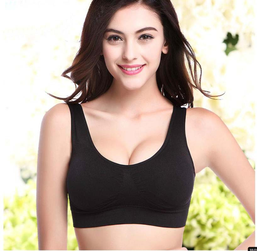 New Fashion Sexy Women's Bra No Pad Without Underwire Wire Free Sport Bra Stretch Leisure Tank Top 1PC(China (Mainland))