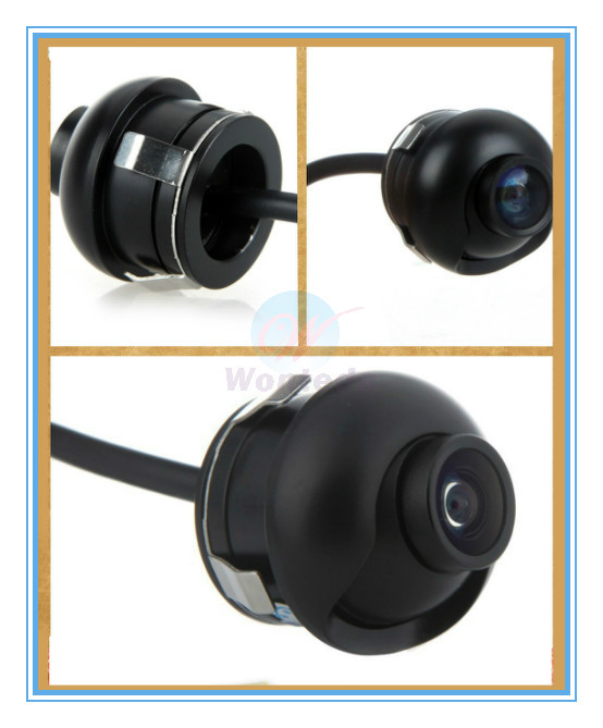 New Universal 360 degrees adjustable Car rear view camera 1.9mm Lens CMOS HD Night Vision Car Reverse Front Parking Accessories(China (Mainland))