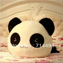 20cm Cushion Lumbar Pillow Panda Plush Toy pillow Cute Panda Comfortable lint Toy Free Shipping(China (Mainland))