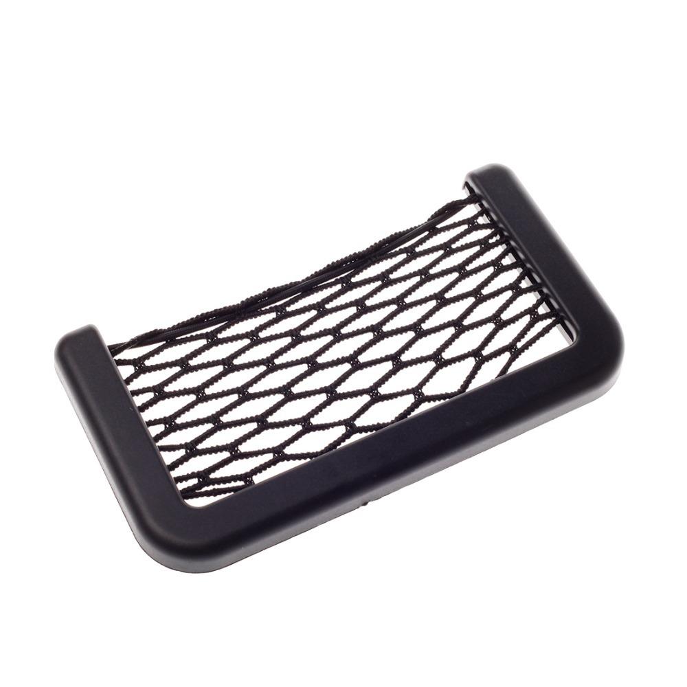 Jian Yan Universal Car Vehicle Storage Net Bag Phone Holder Pocket Organizer Black(China (Mainland))