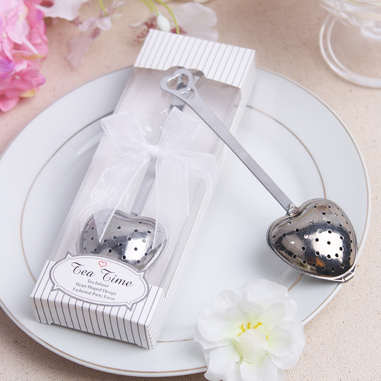 Love Heart Shaped stainless steel tea strainer filter with gift box / Great Gift Idea for wedding(China (Mainland))
