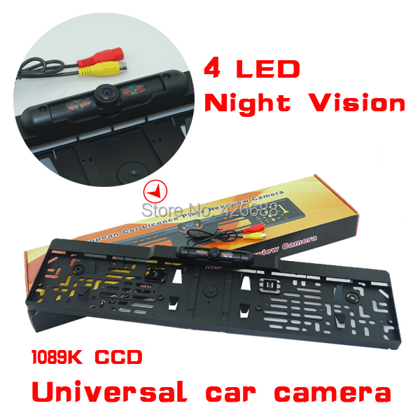 Wholesale !! New car license plate camera with IR led lights car Rear Camera Night Vision European License Plate,Free Shipping<br><br>Aliexpress
