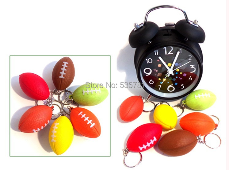 10pcs/lot soft Foam PVC rugby ball keychain keyring sports sovenirs ornament Boutique car hanging accessory KC048(China (Mainland))