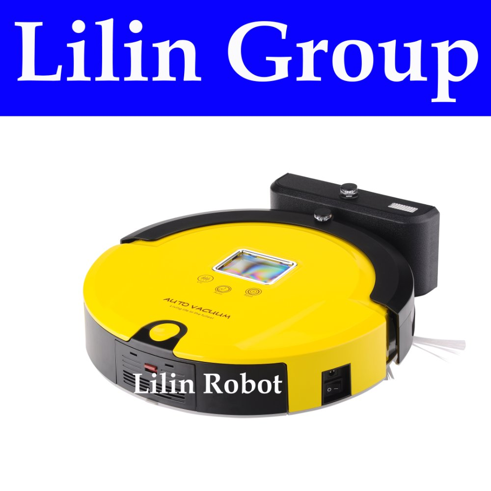 (Free to Russia)Robot Vacuum Cleaner,Multifunction(Vacuum,Sweep,Mop,Sterilize).LCD,TouchButton,Schedule,Virtual Wall,Self Charge
