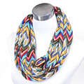 Free ship Ladies knitted Scarf autumn winter scarves for women and men lover wave striped print