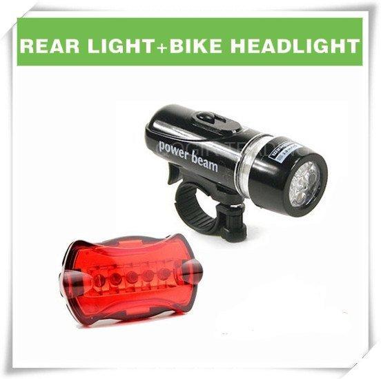 Waterproof LED Bike Bicycle Head Light+Rear Flashlight LY-6059