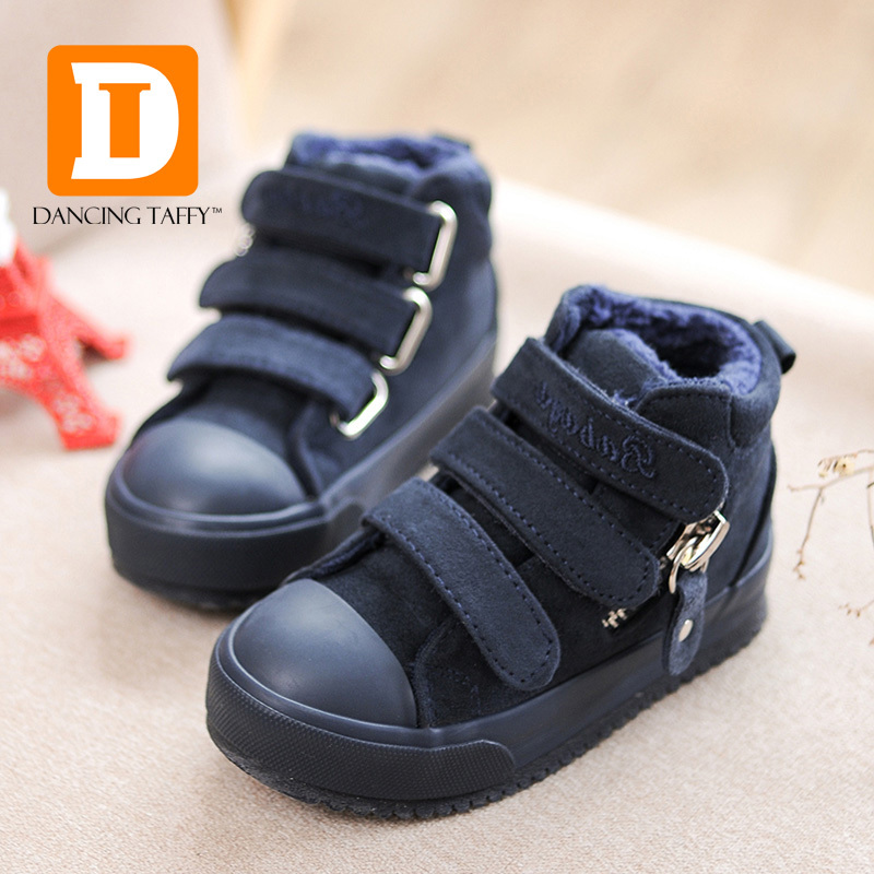 Brand Children Shoes Boys Boots Kids Abkle Snow Boots Autumn Winter 2016 Flock Plush Flat Rubber Warm Toddler Girls Sneakers(China (Mainland))