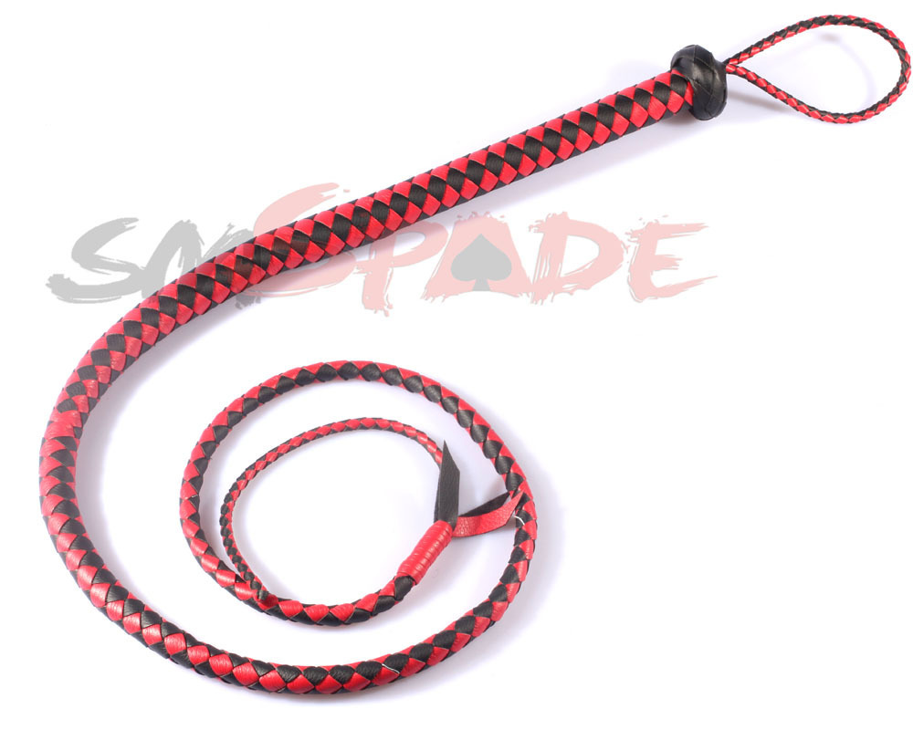 1.65M Black and red artificia leather flogger, handmade horse whip, Horse racing flogger, free shipping knout<br><br>Aliexpress