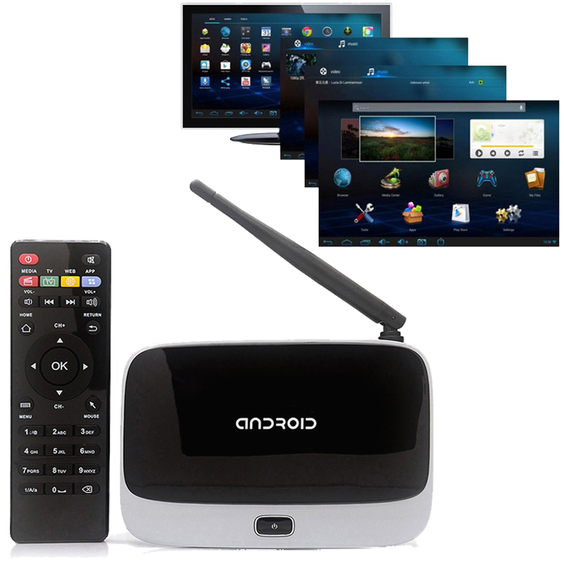 Lowest price XBMC Quad Core Android 4.4 TV Box Full HD CS918 Q7 RK3188T 1080P Media Player 1GB/8GB Wifi Antenna with Remote Cont(China (Mainland))