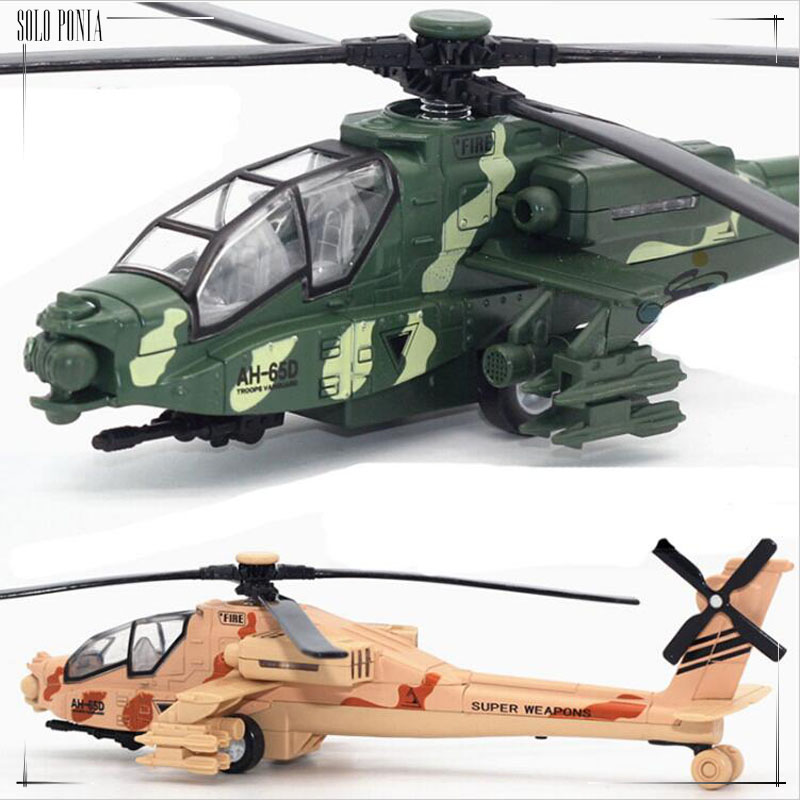 Metal material alloy Apache helicopter battleplane model green or yellow color metal airplane toy maquette avion C1007(China (Mainland))